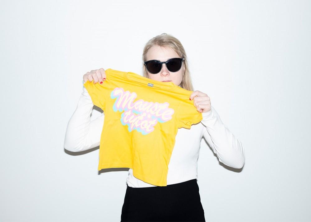 Maustetytöt t-paita, lasten, keltainen